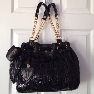 Juicy Couture Black Sequin Daydreamer Shopper Bag